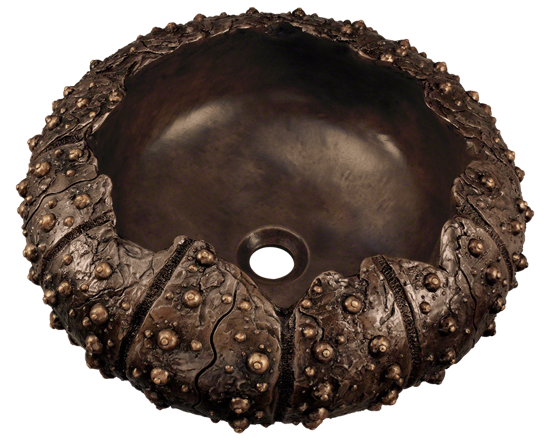 Picture of Bathroom Sink Single Bowl Vessel - Bronze