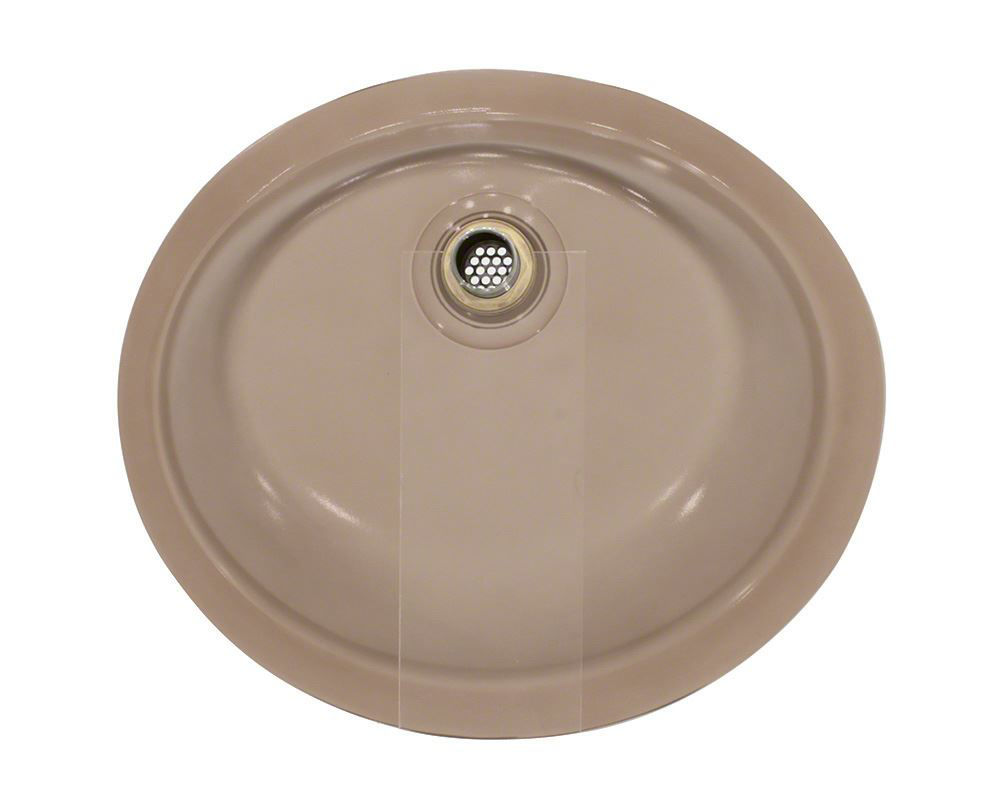 Picture of Bathroom Sink Undermount Glass - Brown Frosted