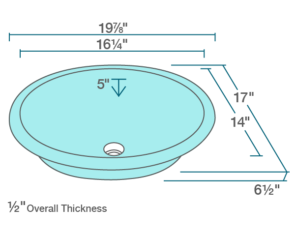 Picture of Bathroom Sink Undermount Glass - Colored Glass