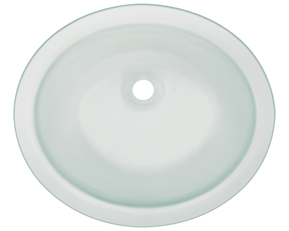 Picture of Bathroom Sink Undermount Glass - Frosted Surface