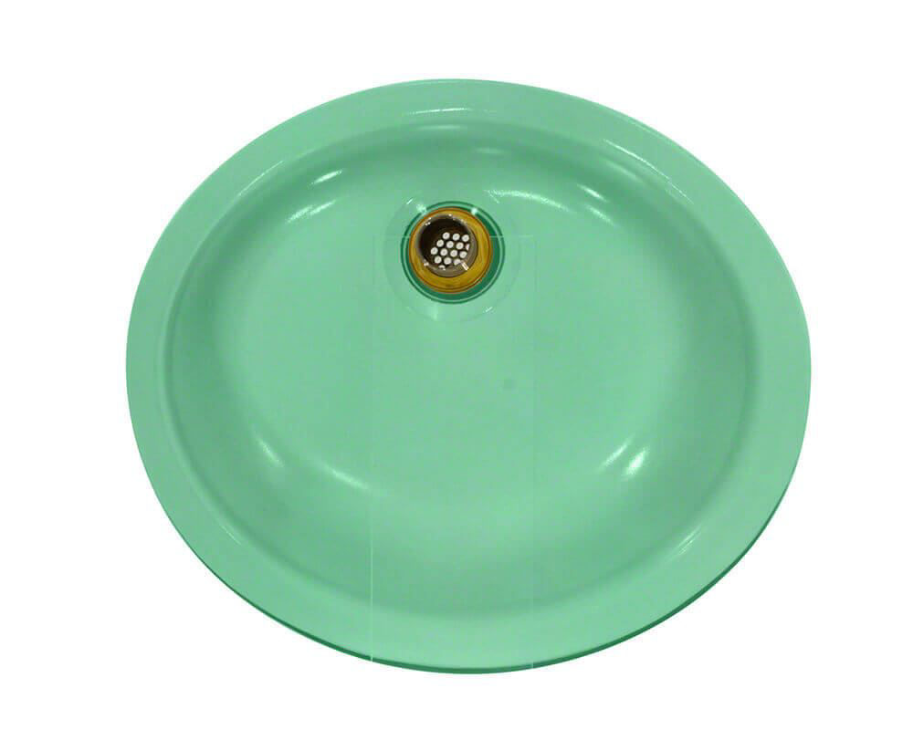 Picture of Bathroom Sink Undermount Glass - Green Frosted