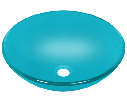 Picture of Bathroom Vessel Sink - Colored Glass