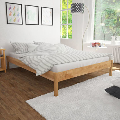 Picture of Bed Frame Solid Oak 55 x 78 -Natural