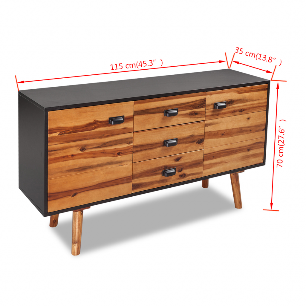 """Picture of Bedroom Sideboard - Solid Acacia Wood 45"""""""