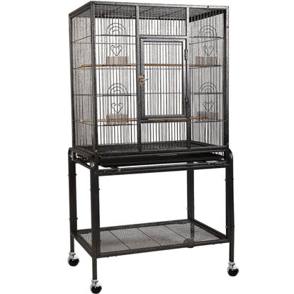 Picture of Bird Cage Parrot House with Wheels