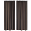 """Picture of Blackout Curtains 53"""" x 96"""" Slot-Headed - Brown 2 pcs"""