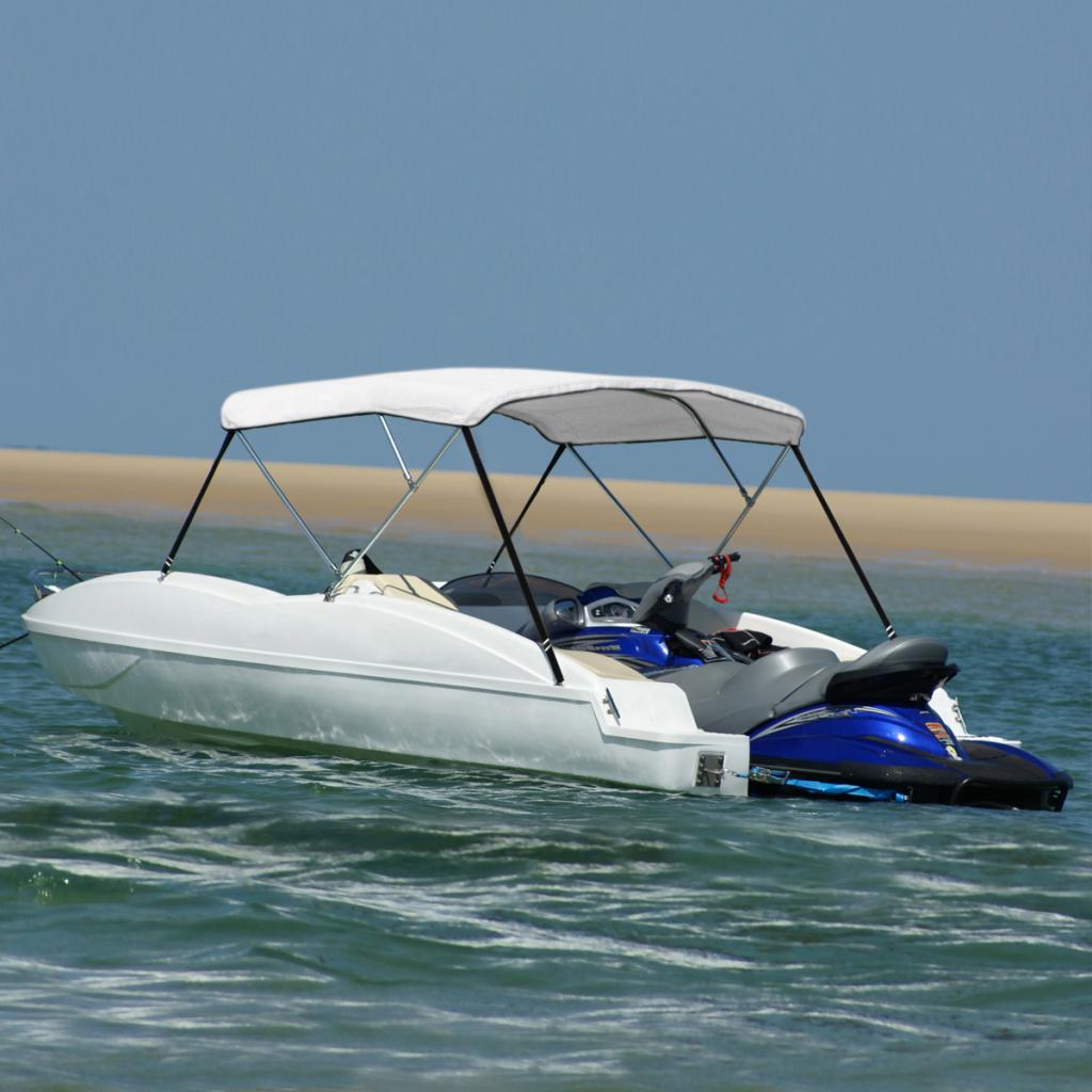 """Picture of Boat Cover Bimini Top 63""""x55"""" - White"""