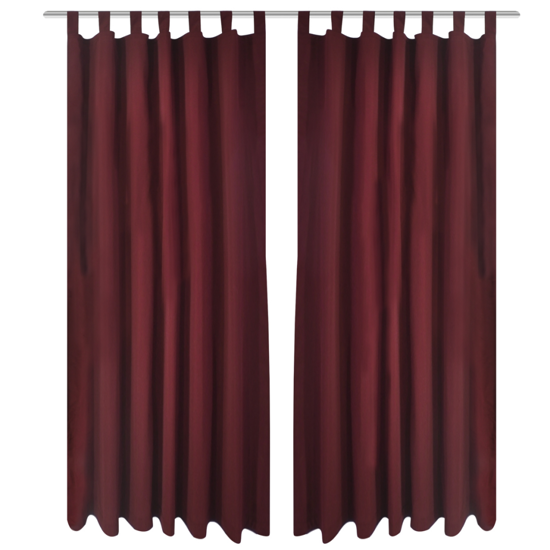"""Picture of Bordeaux Micro-Satin Curtains with Loops 55"""" x 96"""" - 2 pcs"""