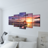 """Picture of Canvas Wall Print Set Beach with Pavilion 39"""" x 20"""""""