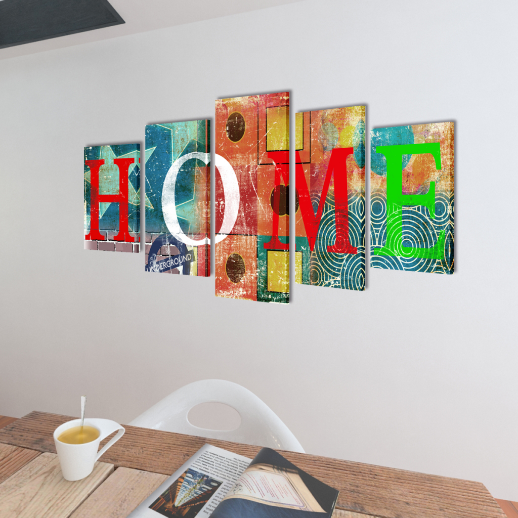 """Picture of Canvas Wall Print Set Colorful Home Design 39"""" x 20"""""""