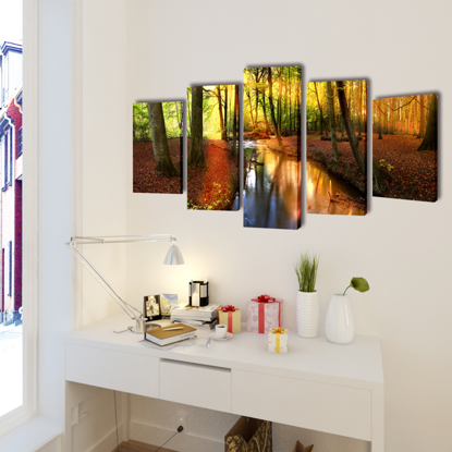 """Picture of Canvas Wall Print Set Forest 39"""" x 20"""""""