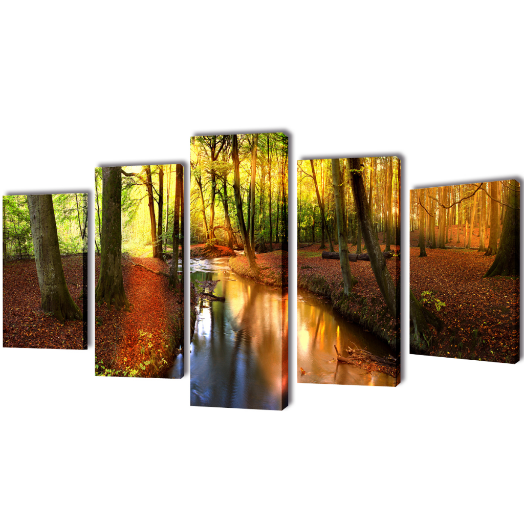 "Picture of Canvas Wall Print Set Forest 79"" x 39"""