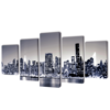 """Picture of Canvas Wall Print Set Monochrome New York Skyline 79"""" x 39"""""""