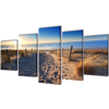 """Picture of Canvas Wall Print Set Sand Beach 79"""" x 39"""""""