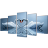 """Picture of Canvas Wall Print Set Swan 39"""" x 20"""""""
