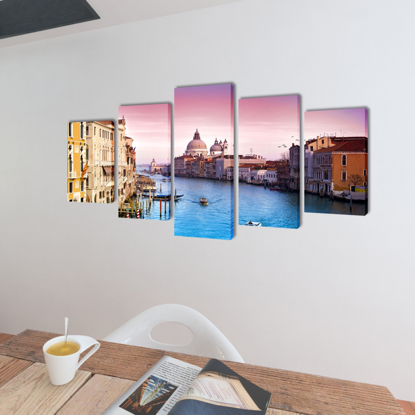 """Picture of Canvas Wall Print Set Venice 39"""" x 20"""""""