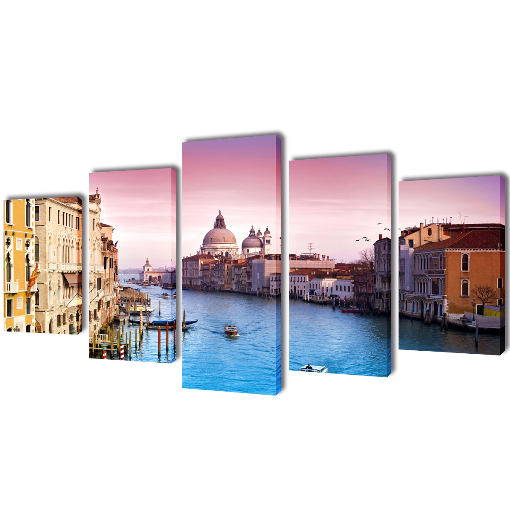 "Picture of Canvas Wall Print Set Venice 79"" x 39"""