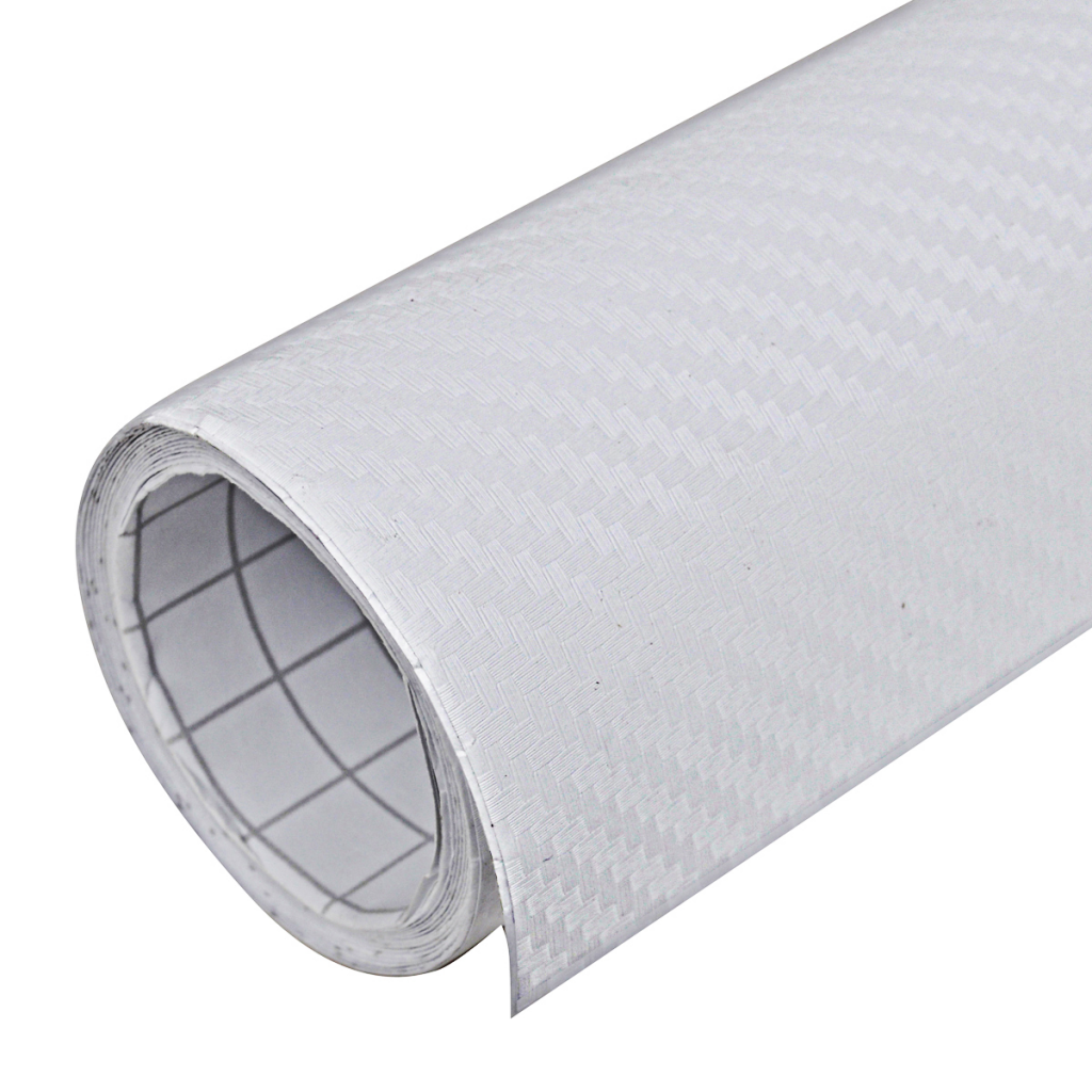 "Picture of Carbon Fiber Vinyl Car Film 3D 60"" x 79"" - White"