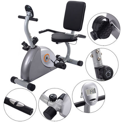 Picture of Cardio Stationary Bicycle Recumbent Fitness Exercise Bike Workout Home Gym