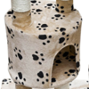 "Picture of Cat Tree Cuddles XL 90"" - 102"" Beige with Paw Prints Plush"