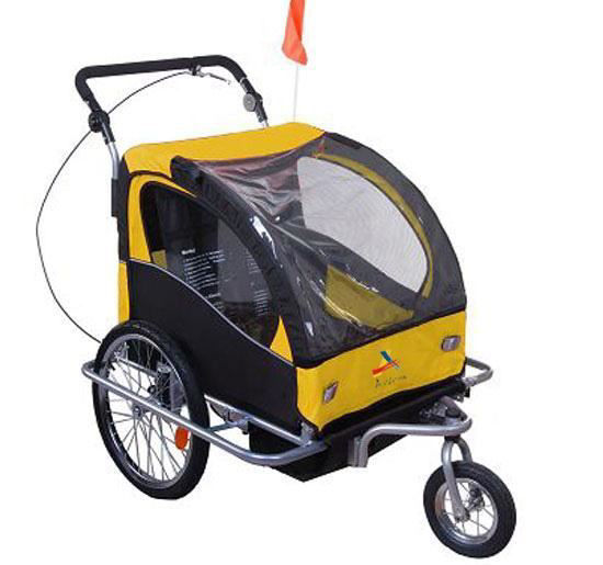 Picture of Child Double Stroller - Yellow/Black
