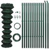 "Picture of Chain Fence 4' 1"" x 49' 2"" Green with Posts & All Hardware"