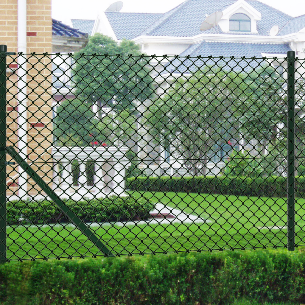 """Picture of Chain Fence 4' 9"""" x 82' Green with Posts & All Hardware"""