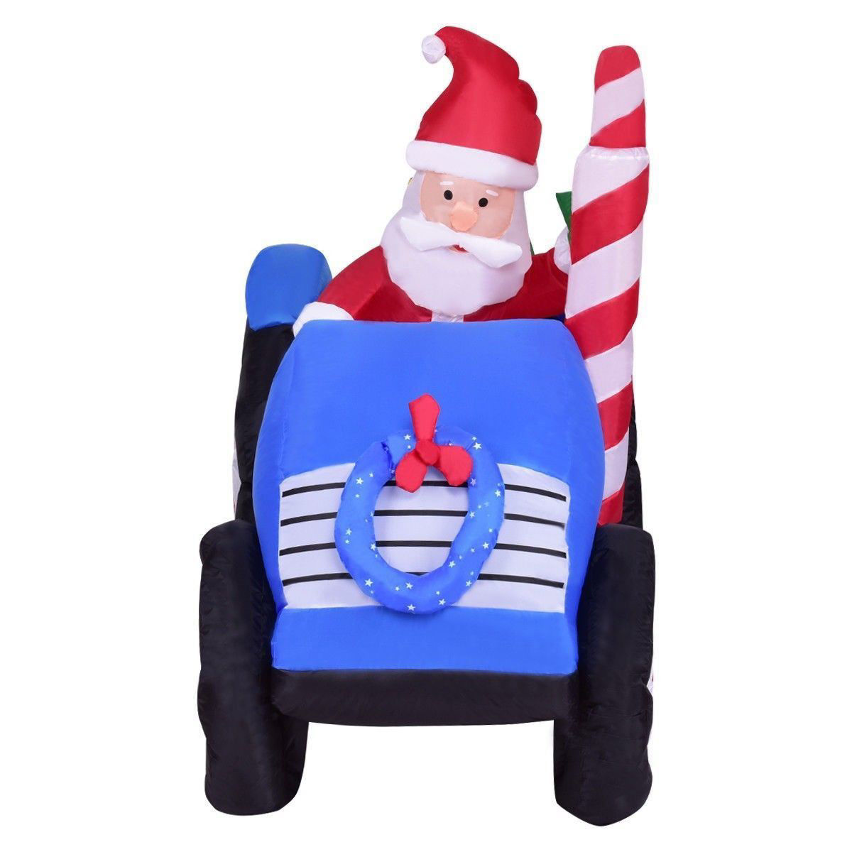 Picture of Christmas Decor 6' Inflatable Santa Claus on Truck