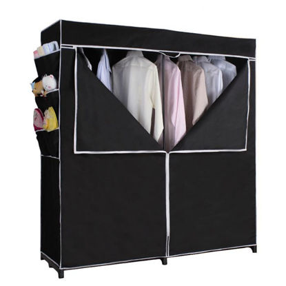 "Picture of Closet Portable  63"" H x 60"" W x 20"" D Black"