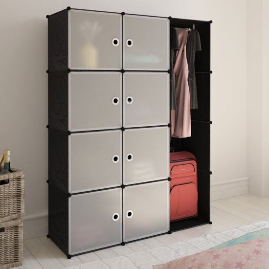 Picture of Clothes Closet Wardrobe Modular Cabinet with 9 Compartments