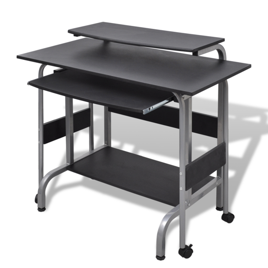 Picture of Computer Desk Adjustable Workstation Black