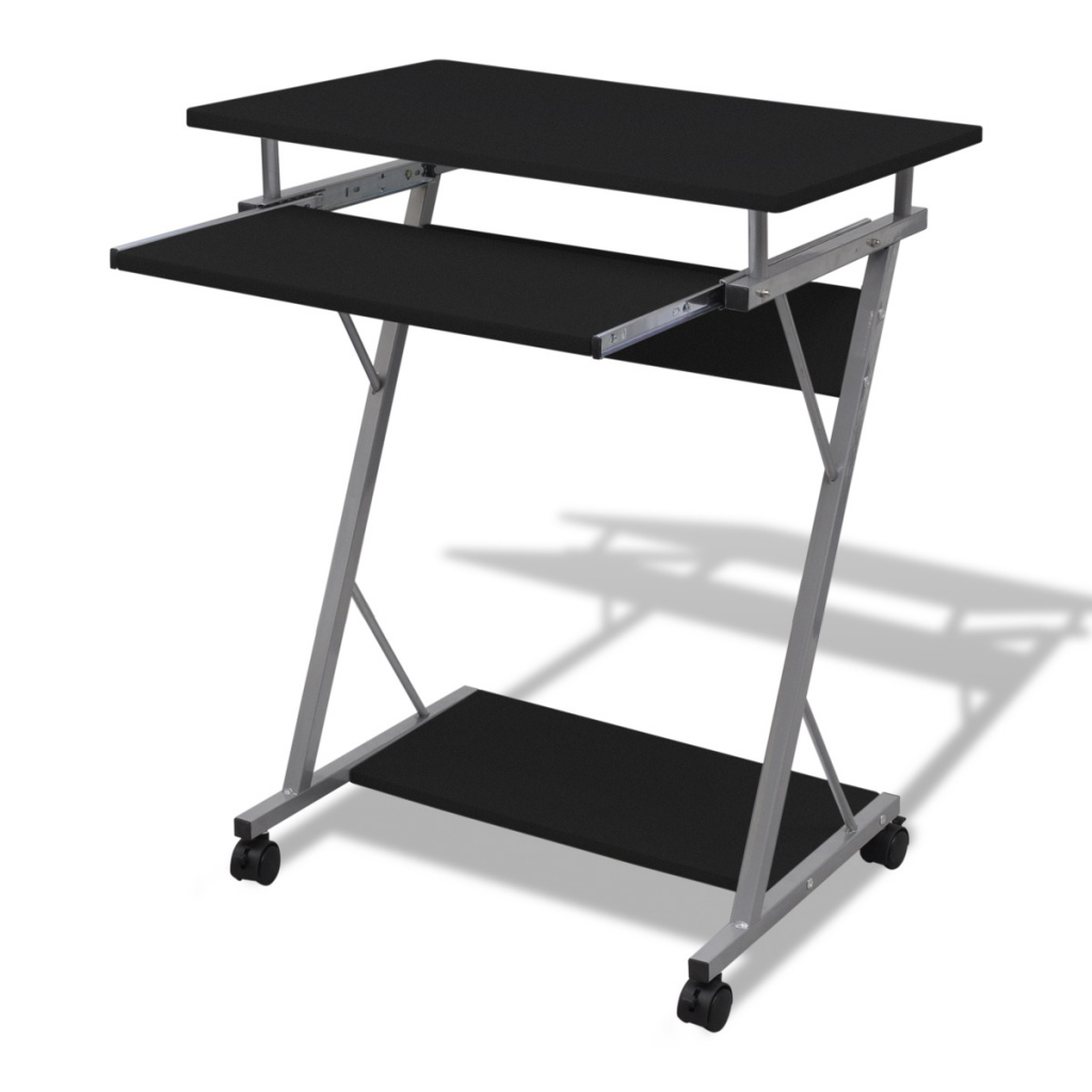 Picture of Computer Desk Pull Out Tray Black Furniture Office Student Table
