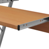 Picture of Computer Desk Pull Out Tray Brown Furniture Office Student Table