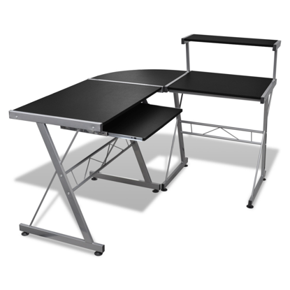 Picture of Computer Desk Workstation With Pull Out Keyboard Tray Black