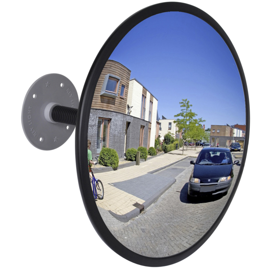 "Picture of Convex Traffic Mirror Acrylic Black 12"" Indoor"