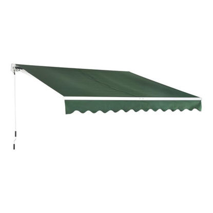 Picture of Copy of 10' x 8' Patio Manual Retractable Sun Shade Awning - Green