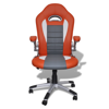 Picture of Desk Office Chair Artificial Leather Adjustable Height Modern - Orange
