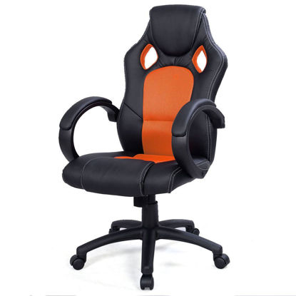 Picture of Desk Office Chair Race Car Style Bucket Seat - Orange