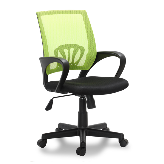 Picture of Desk Office Chair Swivel Stool Adjustable Seat - Black/Green