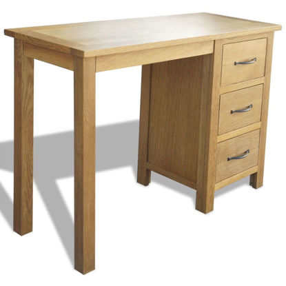 Picture of Office Desk with Drawers - Oak