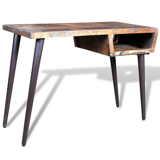 Picture of Desk with Iron Legs - Reclaimed Solid Wood