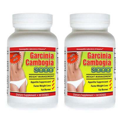 Picture of Dietary Supplement Fat Burner Weight Loss Garcinia Cambogia HCA 3000mg 60 Doses - 2 Bottles