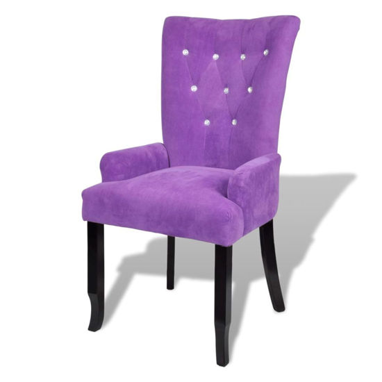 Picture of Dining Armchair - Velvet-Coated Purple