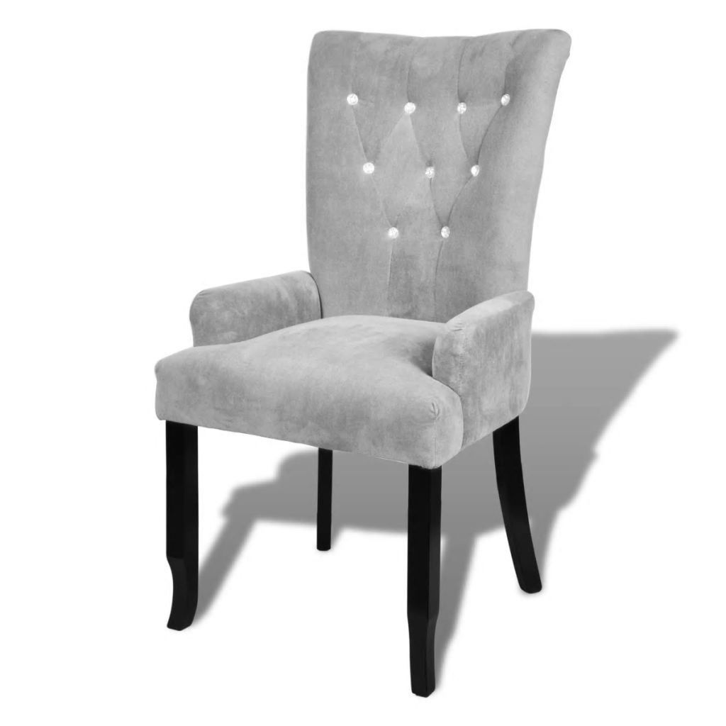 Picture of Dining Armchair - Velvet-Coated Silver