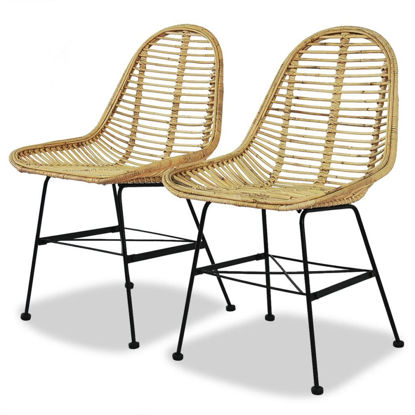 Picture of Dining Chairs 2 pcs Natural Rattan