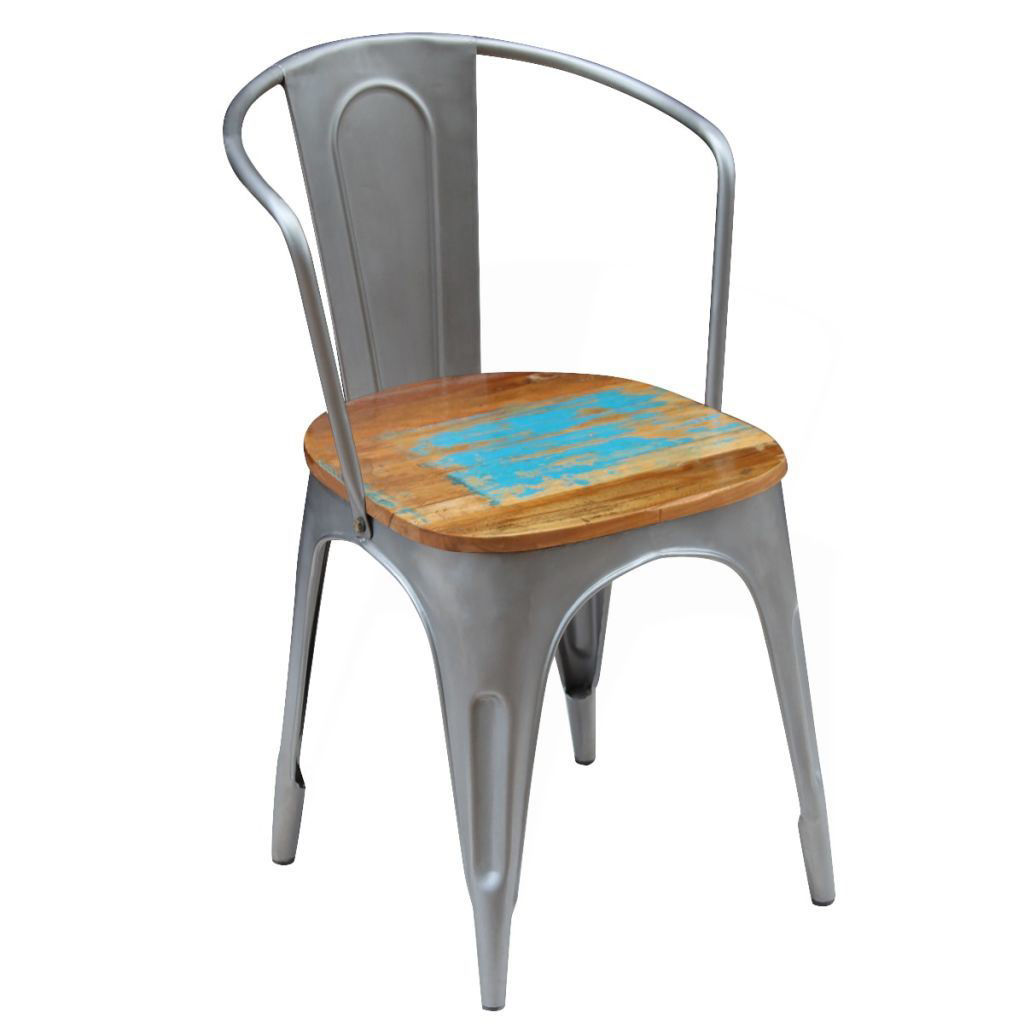 """Picture of Dining Chairs 2 pcs Solid Reclaimed Wood 20""""x20.5""""x31.5"""""""