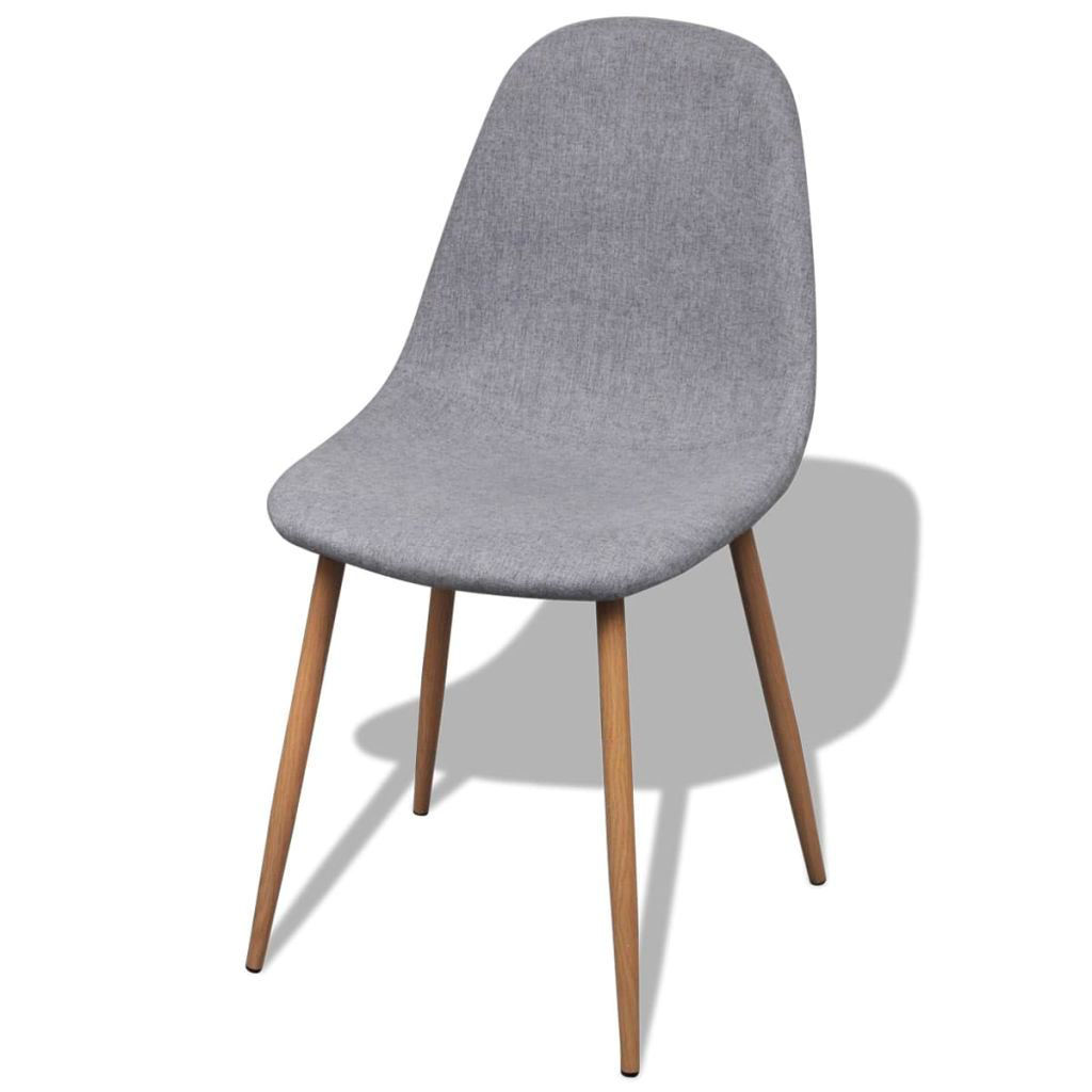 Picture of Dining Chairs 4 pcs Fabric Light Gray