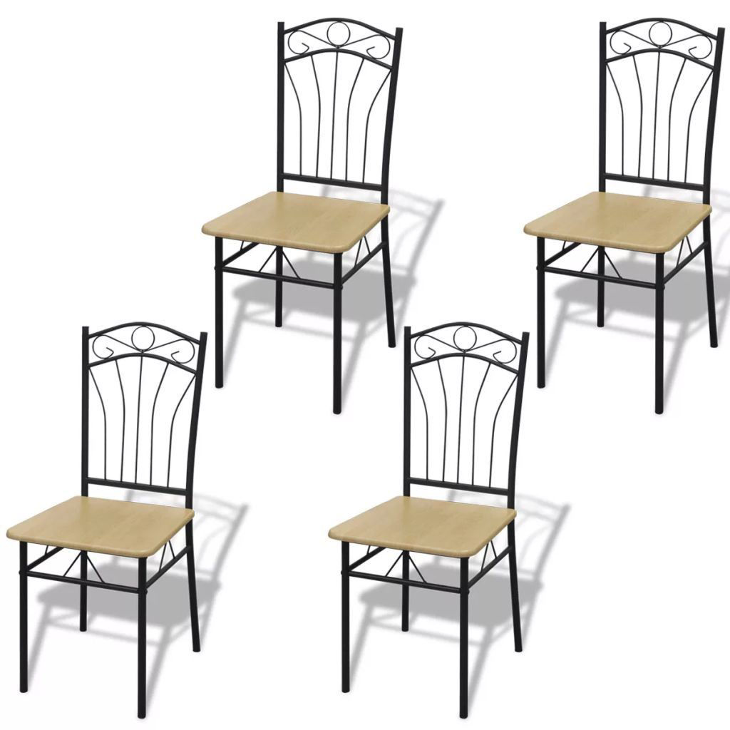 Picture of Dining Chairs 4 pcs Light Brown
