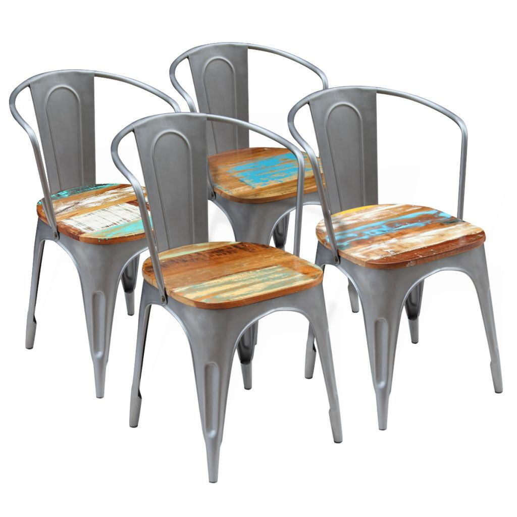 "Picture of Dining Chairs 4 pcs Solid Reclaimed Wood 20""x20.5""x31.5"""