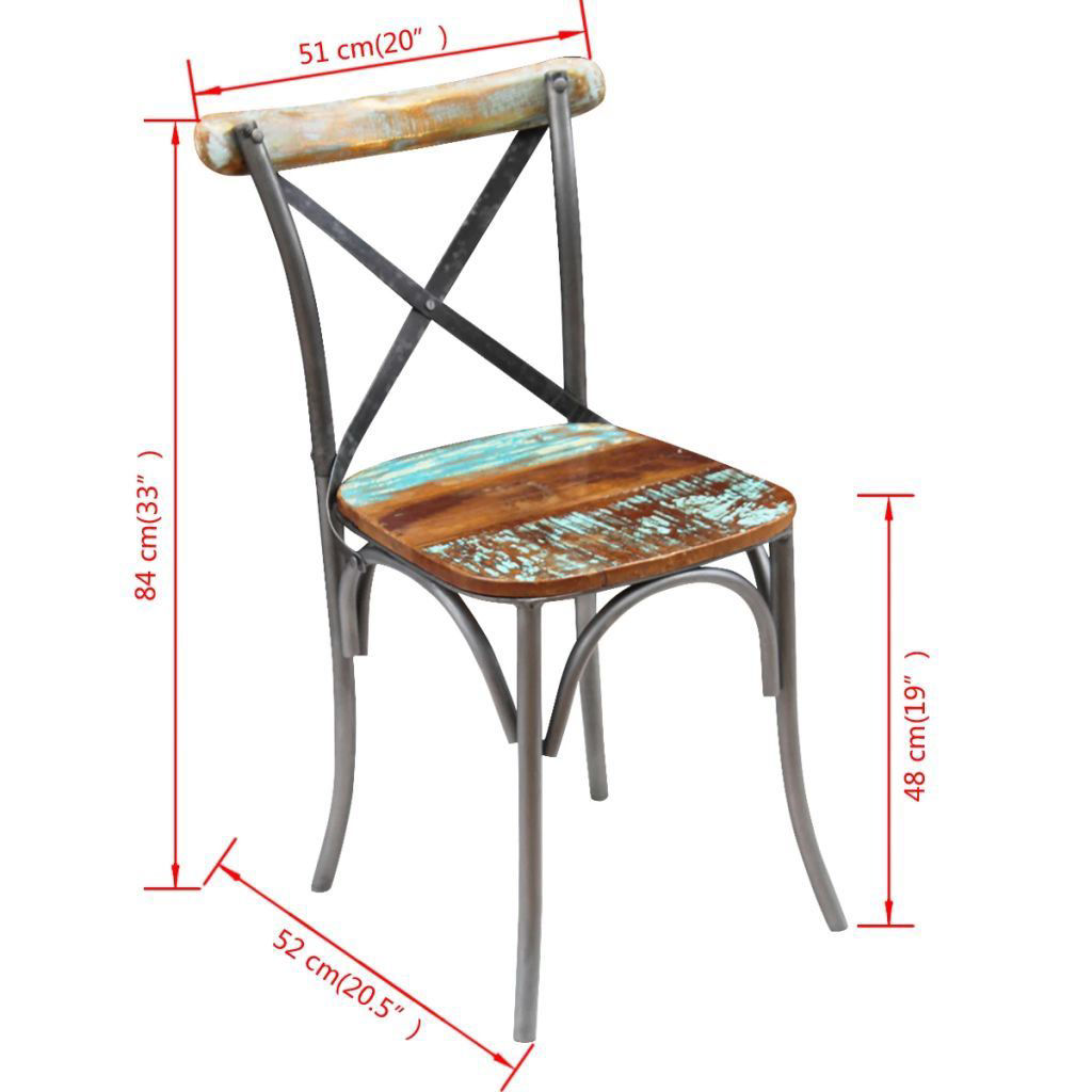 """Picture of Dining Chairs 4 pcs Solid Reclaimed Wood 20""""x20.5""""x33"""""""